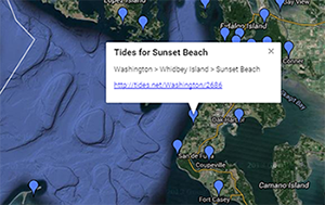 TIDES.net snapshot of the map.